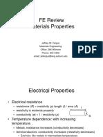 Materials Properties 2009