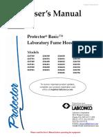 Labconco-4851200 Rev f Protector Basic Hoods
