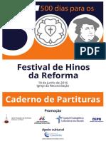 Caderno de Partituras Festival 500 Dias Reforma
