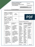 Guia de Aprendizaje Controlar Los Procesos de Fabricación de Productos Metálicos Soldados Conforme a Programas y Procedimientos Establecidos