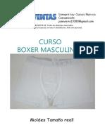 Moldes y Curso de Boxer Masculino