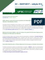 Notícias Da UFSC - 06-07-17