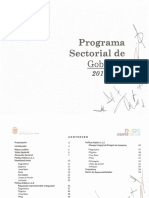 Programa Sectorial de Gobierno 2013-2018