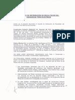 Acuerdo de Distribución de Resultados Del Consorcio Tren Eléctrico