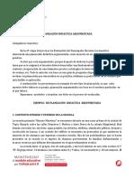 PLANEACIÓN DIDÁCTICA ARGUMENTADA 3ERO