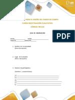 Formato Para Diseño Del Diario de Campo - Inv. Cualitativa
