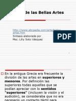 Historia de Las Bellas Artes