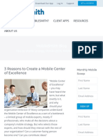 3 Reasons to Create a Mobile Center of Excellence