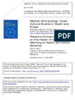 Toward a Critical Anthropology on the Impact of Global Warming on Health and Human Societies