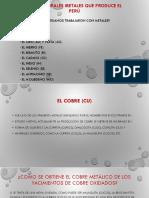 Los Principales Metales que Produce el Perú
