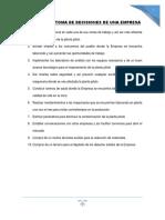 Ejemplos de Toma de Decisiones de Una Empresa