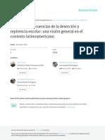 Causas y Consecuencias de La Deserción y Repitencia Escolar Una Visión General en El Contexto Latinoamericano