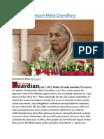 Bangladesh  Begum Matia Chowdhury.docx