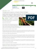 Consejos Para Empezar Un Huerto Urbano Ecologico - Ecoportal