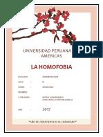 Caratula - Trabajo de La Homofobia