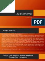 Audit Internal by DR Drs Eddy R.S.,M.H. (Dikirim Ke Sujono)