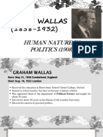 Graham Wallas (1858-1932)