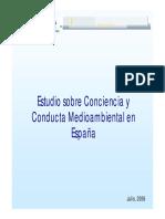 ART005. Estudio Sobre Conciencia y Conducta Medioambiental en España