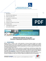INSTRUCTIVO DIGITAL CONCURSO DOCENTE N° PD-01-2017