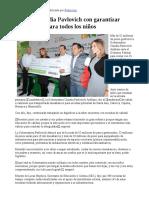 14-01-17 Cumple Claudia Pavlovich Con Garantizar Mesabancos Para Todos Los Niños. - Canal Sonora