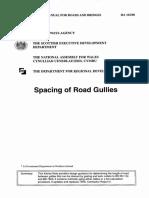 Spacing of Road Gullies