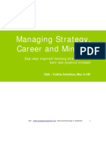 Managing Strategy Career and Mindset
