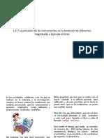 1.2.7 La Precisión d Elos Instrumentos en La Medición de Diferentes Magnitudes