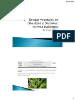 Drogas Vegetales en Obesidad y Diabetes 2016 (1)