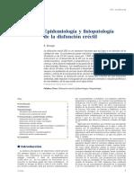 Epidemiología y Fisiopatología de La Disfunción Eréctil