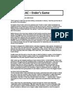 1AC - Ender's Game