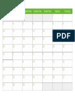 Calendario Julho Agosto 2017