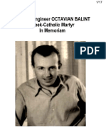 Prof. Dr. Engineer OCTAVIAN BALINT, Greek-Catholic Martyr, In Memoriam