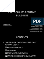 Earthquake resistant architecture
