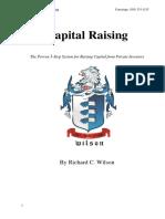 Capital Raising Book by Richard C Wilson