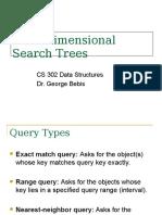 Multidimensional Search Trees