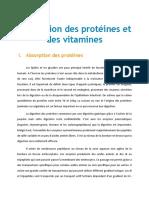 Absorption Des Pro Et Vit