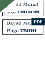 Bayad Muna