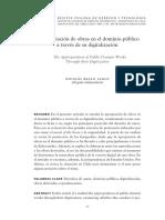 BELLO, Nicolás - La apropiación de obras en el dominio público a través de su digitalización.pdf