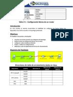 02 - [Redes de Computadoras II] - P48 - Capítulo # 2 - [Taller # 2 - Configuración de Router]