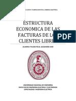 Estructura Economica de Las Facturas de Los Clientes Libres