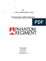 Phantom Regiment Audition Packet FrontEnsemble
