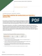 Capacidad Máxima de Conductores en Tuberías y Ductos PVC _ Cables Eléctricos