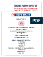 Study of Customer Satisfaction Towards Hdfc Bank