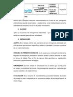 ANEXO R. Plan de Respuesta Ante Emergencia