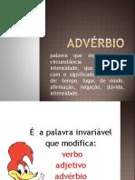 Advérbio PORTUGUES