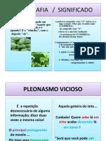 ORTOGRAFIA Chuchu- Pleonasmo Vicioso 3 PORTUGUES