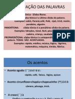 Acentuação Das Palavras 2  PORTUGUES