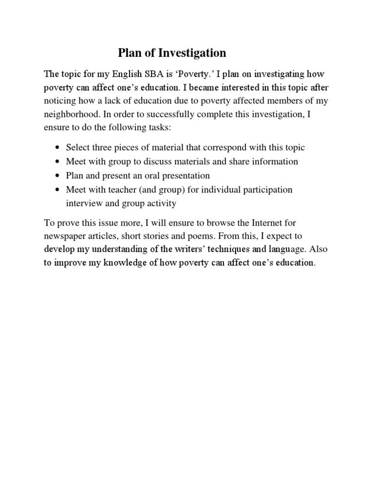 english sba poverty poverty homelessness rh scribd com Mathematical Literacy Course Literacy in Algebra
