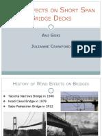 Wind Effects on Bridge Decks