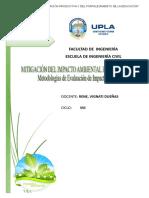 Mitigación Del Impacto Ambiental en Obras Civiles